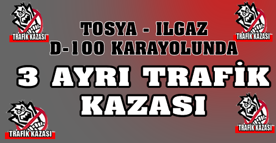 TRAFİK KAZASI-TOSYA-ILGAZ ARASINDA