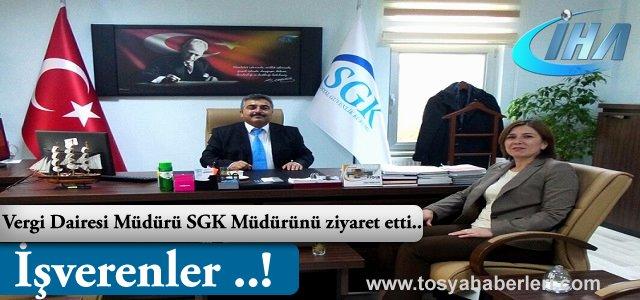 Vergi Dairesi Müdüründen SGK Müdürüne Ziyaret