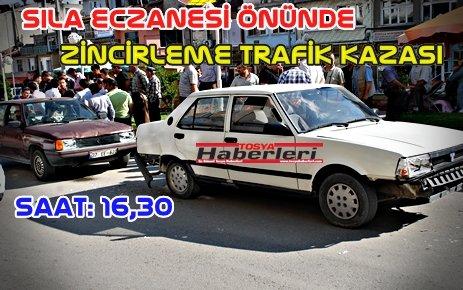 ZİNCİRLEME TRAFİK KAZASI...!