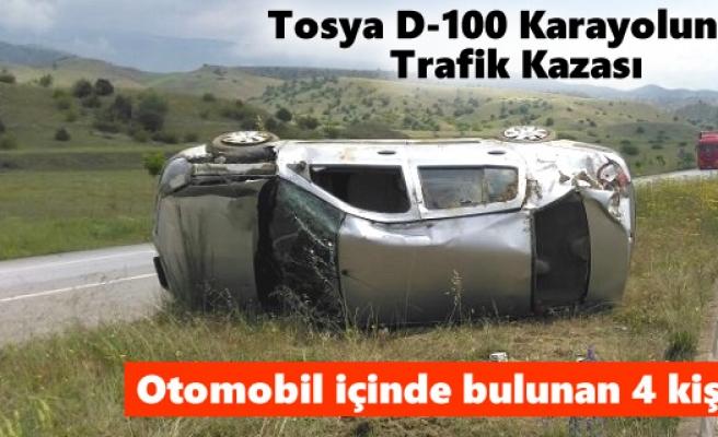 Tosya - Ortalıca köyünde Trafik Kazası Meydana Geldi