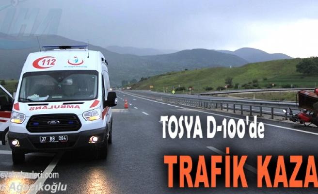 TOSYA'DA MOTOSİKLET KAZASI; 1 YARALI