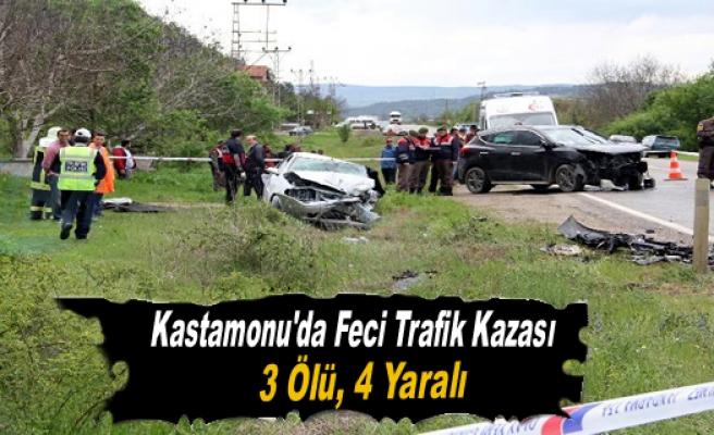 TRAFİK KAZASINDA 3 KİŞİ HAYATINI KAYBETTİ