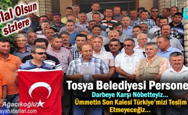 Tosya Belediyesi Personeli ve Sendika Darbeye Karşı Basın Bildirisi