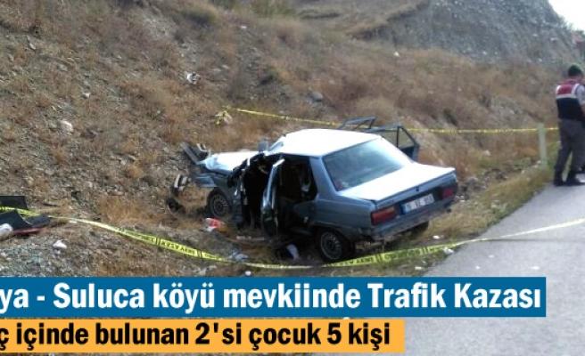 Tosya'da meydana gelen Trafik kazasında 5 kişi yaralandı