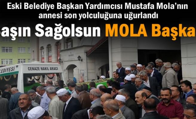 Eski Belediye Başkan Yardımcısı Mustafa Mola'nın annesi son yolculuğuna uğurlandı