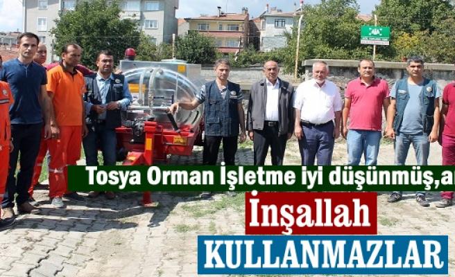 Tosya Orman İşletme Müdürlüğü tarafından Kilkuyu Köyü'ne yangın tankeri verildi