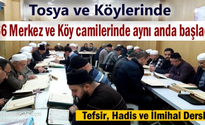 Tosya'da Tüm Camilerde Aynı gün başladı
