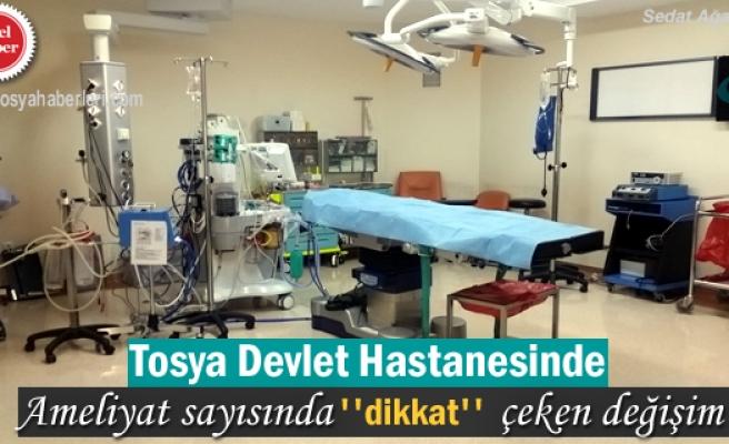 Tosya Devlet Hastanesinde Ameliyat oranı hızla düşüyor