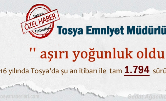 Tosya'da Ehliyetli Sürücü Sayısı ve Yeni ehliyet adeti belli oldu