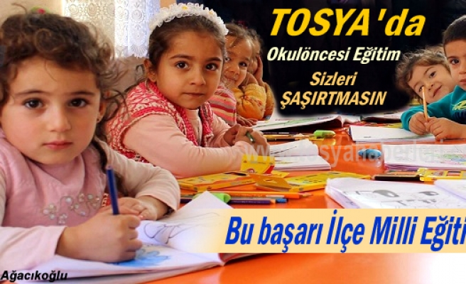 Tosya'da Okul Öncesi Eğitimde büyük başarı