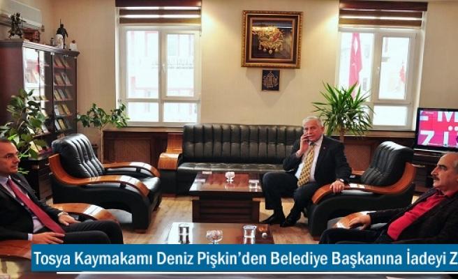 Tosya Kaymakamı Deniz Pişkin'den Belediye Başkanına İadeyi Ziyaret