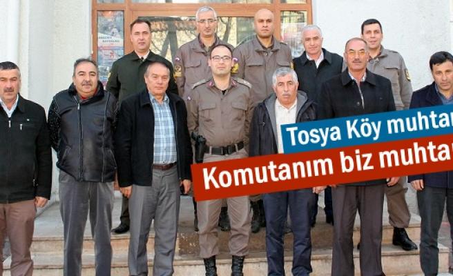 Tosya Köy Muhtarlardan Jandarmaya Taziye Ziyareti