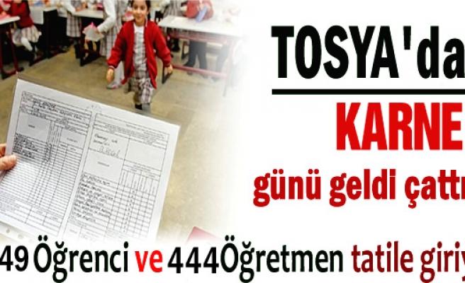 Tosya'da Yarın 6.649 öğrenci karne alacak