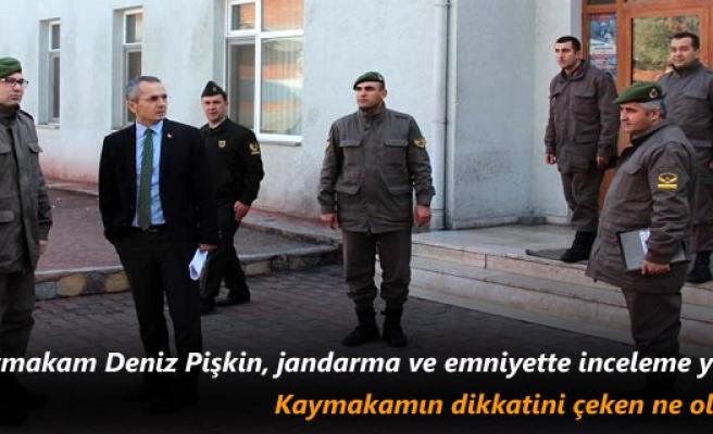 Tosya Kaymakam Deniz Pişkin, Jandarma ve Emniyette inceleme yaptı