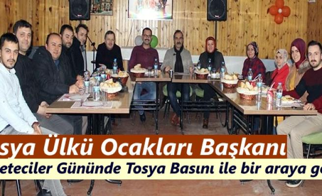 Tosya Ülkü Ocakları Başkanı Gazeteciler Gününü kutladı