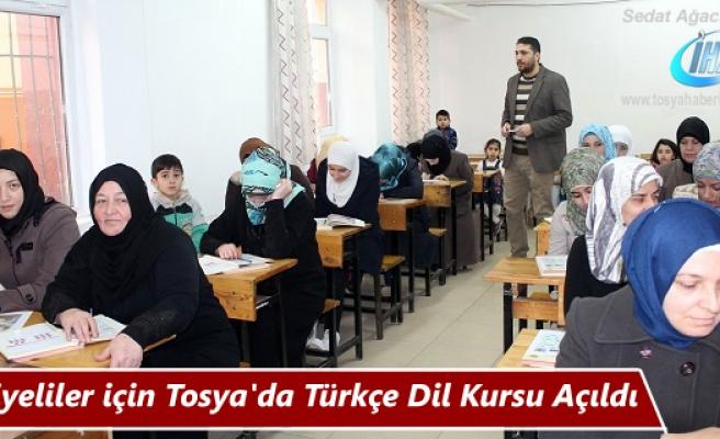 Tosya'da Suriyeliler için Kurs Açıldı