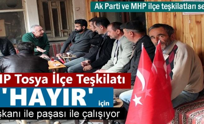 CHP Tosya ilçe teşkilatı Tosya'da Referandum Çalışmasına başladı