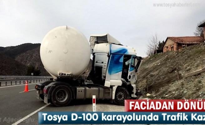 Tosya'da Kaza yapan LPG Tankeri boş olması faciayı önledi