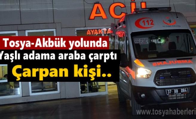 Tosya-Akbük köyünde yaşlı adama Otomocil çarptı