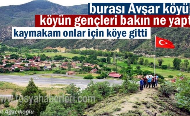 Avşar Köyü gençleri yaptı Kaymakam onlar için köye gitti