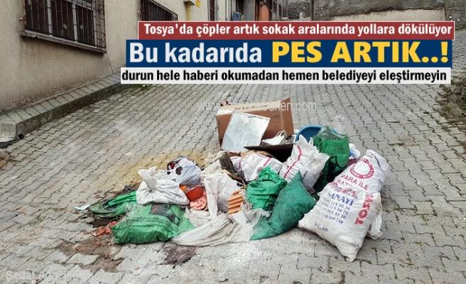 Tosya'da'' Zihniyeti Çöplük'' olanlar artık her yere çöp atıyor