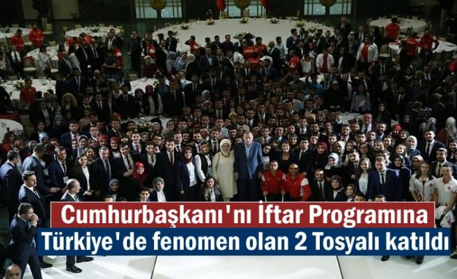 Cumhurbaşkanı Recep Tayyip Erdoğan'ın İftar programına fenomen 2 Tosyalı katıldı