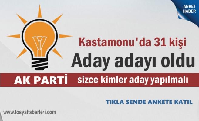 Kastamonu AK Parti Milletvekili Aday adayları