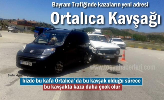 Tosya-Ortalıca Kavşağında Trafik Kazası