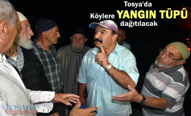 Tosya'da Köy Muhtarları Dikkat '' Yangın Tüpü Dağıtılıyor''