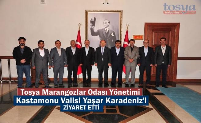 Tosya Marangozlar Odası Yönetimi Kastamonu Valisi Yaşar Karadeniz'i Ziyaret Etti