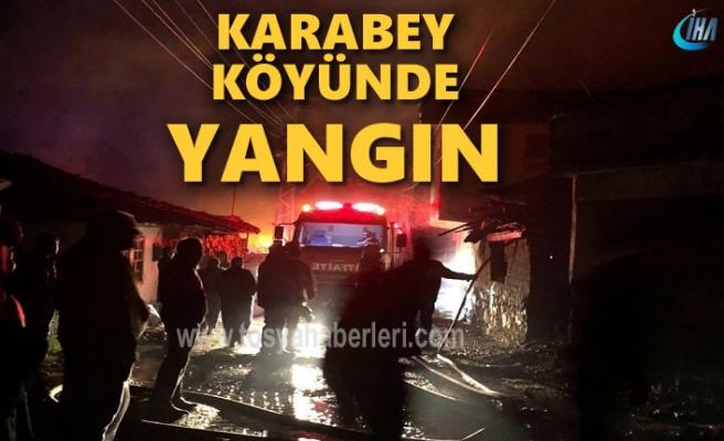 Tosya Karabey Köyünde Yangın