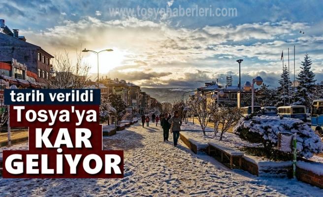 Tosya'ya Kar Geliyor
