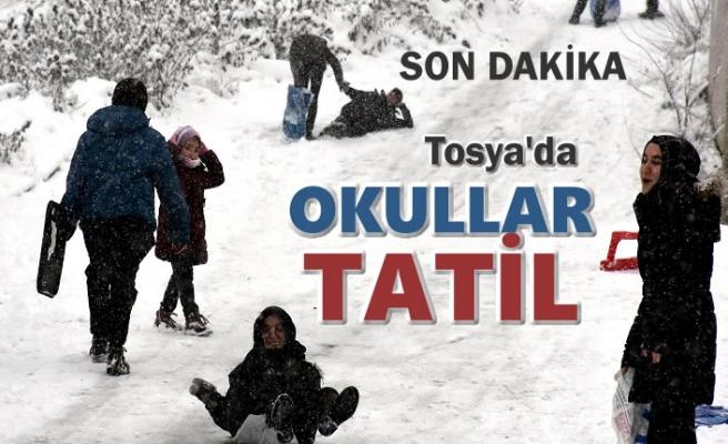 Son Dakika ''TOSYA'DA YARIN OKULLAR TATİL''