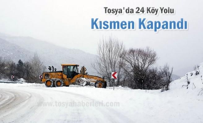 Tosya'da Köy Yollarında Son Durum