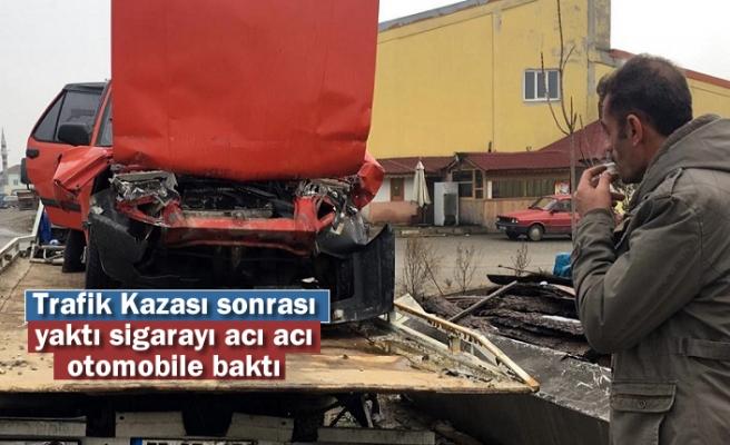 Tosya Eco Kavşağında Trafik Kazası