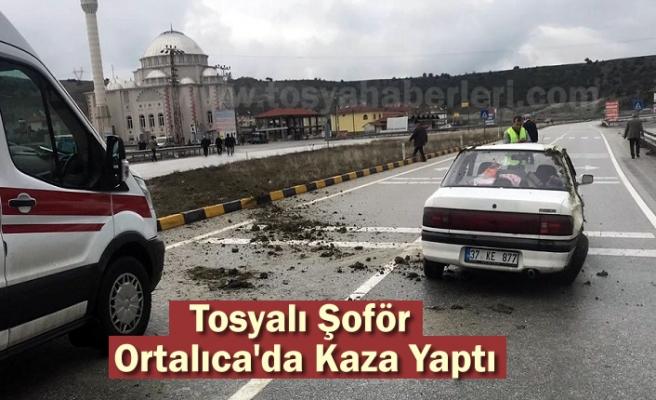 Tosya Ortalıca Kavşağında Trafik Kazası