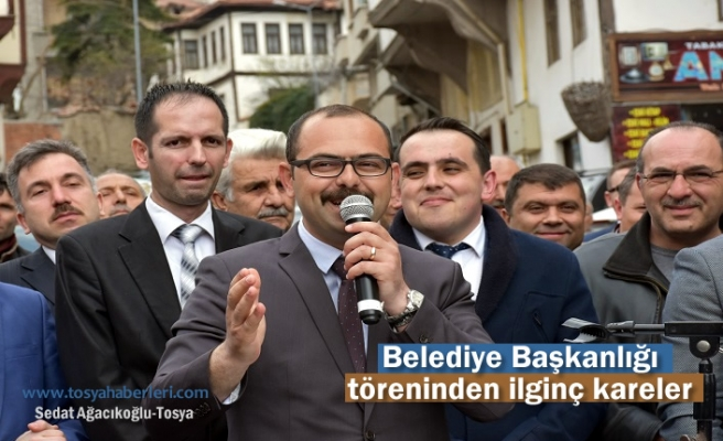 Tosya Belediye Başkanlığı Devir Töreninden İlginç Kareler
