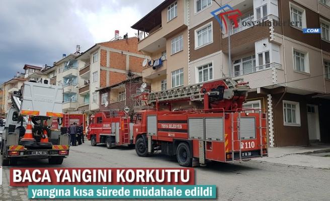 Tosya'da Baca Yangını Paniğe Neden Oldu