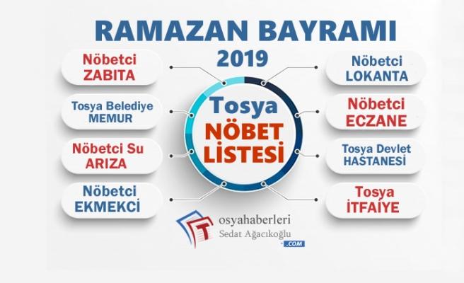 RAMAZAN BAYRAMI NÖBET LİSTESİ