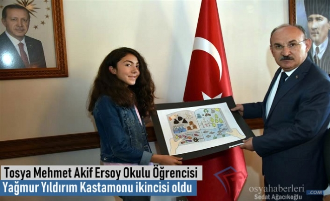 Tosya Mehmet Akif Ersoy Ortaokul Öğrencisi Kastamonu İkincisi