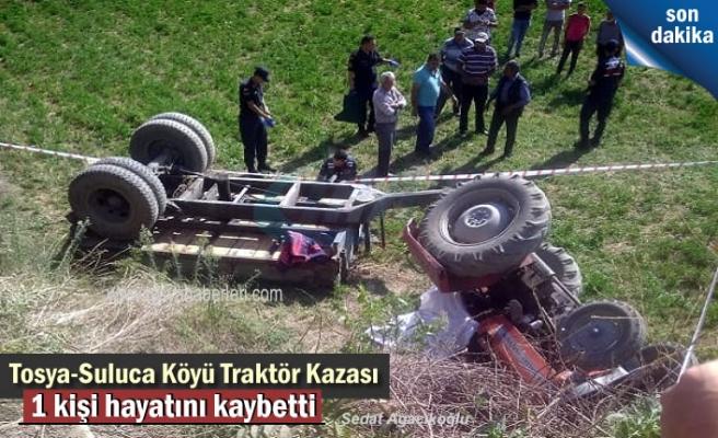 Tosya Suluca Köyünde Traktör Kazası