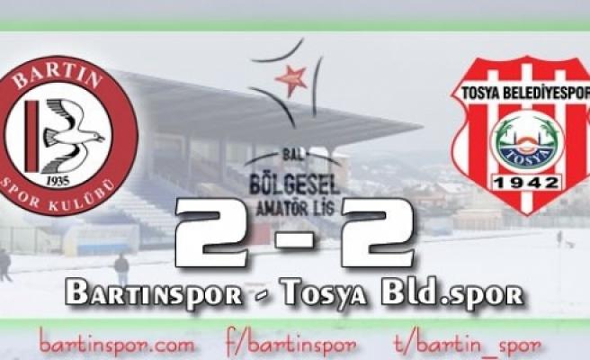 Bartınspor'a Tosya Çelmesi: 2-2