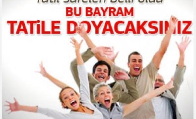 Bayram Tatili Tam 9 Gün ve Tarihleri