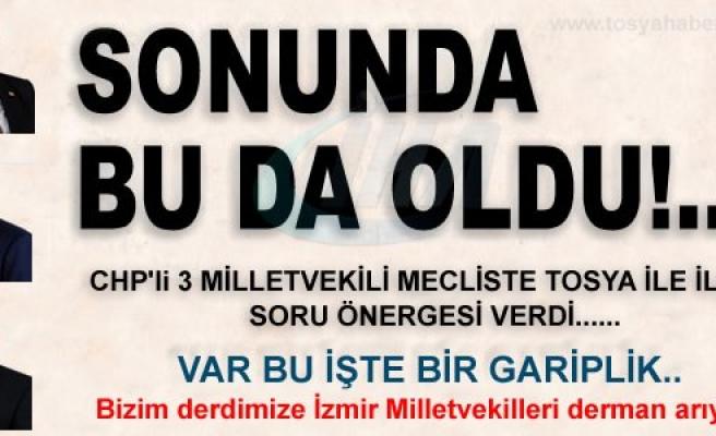 CHP'Lİ VEKİLLER DEVREZ ÇAYI'NI TBMM'YE TAŞIDI