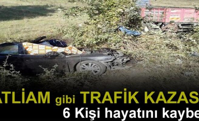 KASTAMONU'DA KATLİAM GİBİ TRAFİK KAZASI