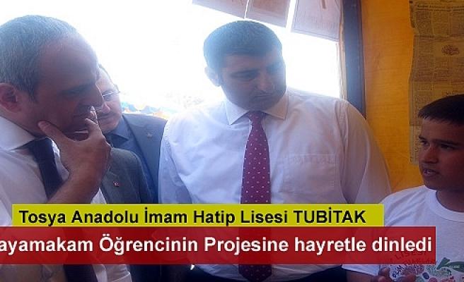 Tosya Anadolu İmam Hatip Lisesi'nde TÜBİTAK 4006 Bilim Fuarı açıldı