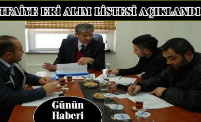 Tosya Belediyesi İtfaiye Er Alım Listesi Açıklandı