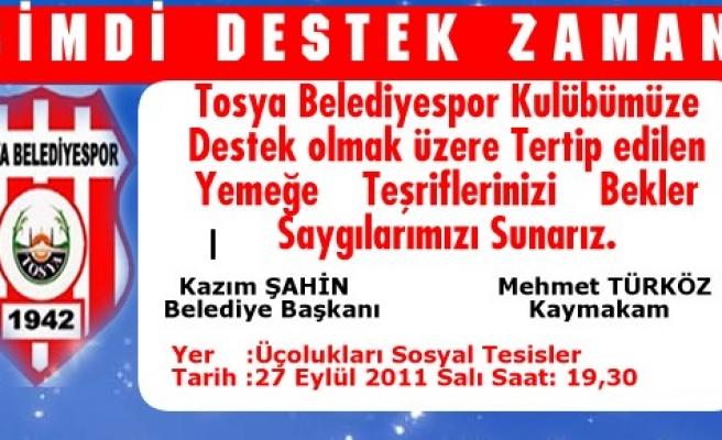 Tosya Belediyespor için Destek Yemeği düzenlendi
