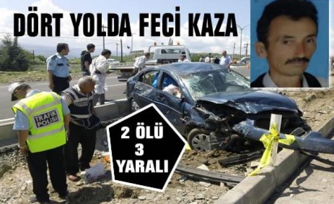Tosya Dört Yolda Feci Kaza 2 Ölü 3 Yaralı