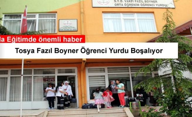 TOSYA FAZIL BOYNER ÖĞRENCİ YURDU BOŞALIYOR